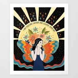 Feeling lighter and lighter Art Print