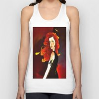 mortal instruments Tank Tops featuring Clary Fray from The Mortal Instruments by Cassandra Clare by Amitra Art