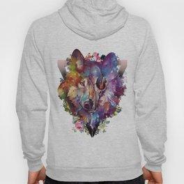 floral wolf skull Hoody