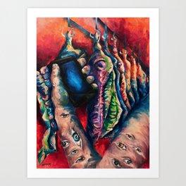 """#SCARS"" Painting Art Print"