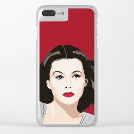 Hedy Lamarr portrait Clear iPhone Case