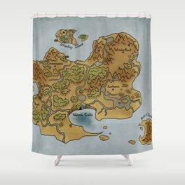 Fallen Map Shower Curtain