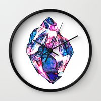 mineral Wall Clocks featuring Mineral by arnedayan