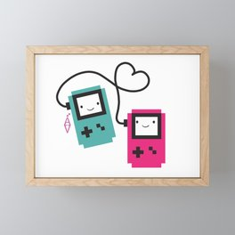 Game boy colors rain Framed Mini Art Print