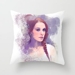 Purple Portrait Dream Throw Pillow