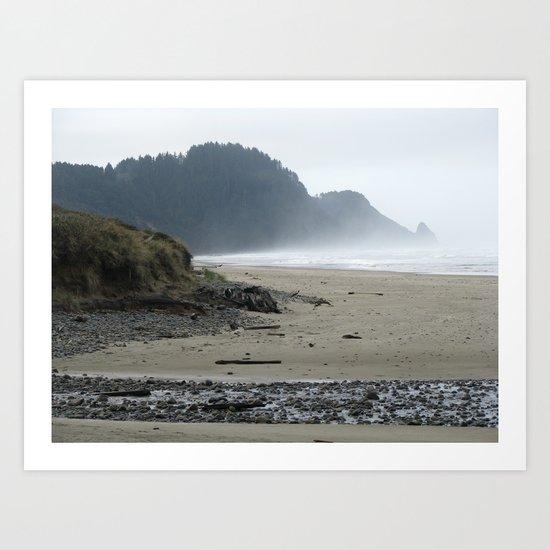 Stormy Coast III Art Print