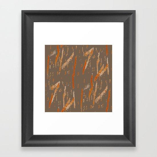Orange Squiggles Framed Art Print