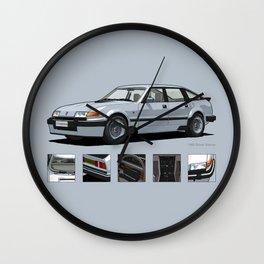 Rover Vitesse 1986 Silver Leaf Wall Clock