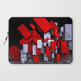 red and white boxes - landscapeformat Laptop Sleeve