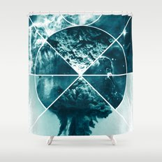 Atomic Space Shower Curtain