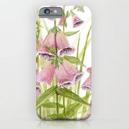 Pink Foxglove Botanical Garden Flower iPhone Case