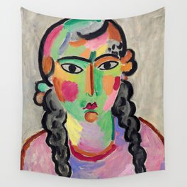 """Alexej von Jawlensky """"The pale girl with gray braids"""" 1916 Wall Tapestry"""