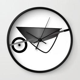 Wheelbarrow Wall Clock
