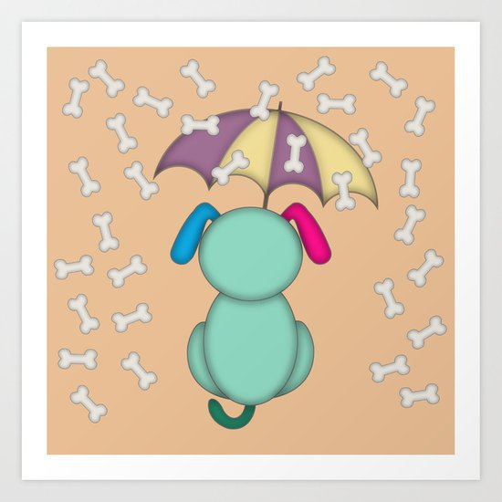 It's raining bones! Art Print