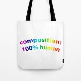 100%HUMAN Tote Bag