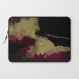 Black Honey - resin abstract painting Laptop Sleeve