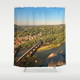 Harpers Ferry & Potomac River Overlook Shower Curtain