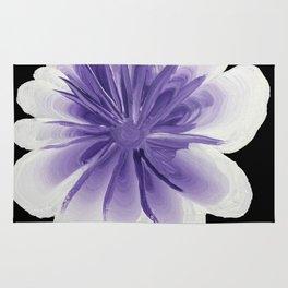 Large Flower Filigree Scroll Floral Art Acrylic Painting Purple Flower Rug