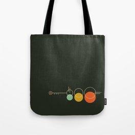 Mid Geo 02 // Mid Century Modern Minimalist Illustration Tote Bag