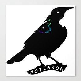 Tui New Zealand Native Bird Canvas Print