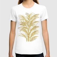 palms T-shirts featuring Gold Palms by Cat Coquillette