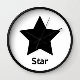 Star Shape Wall Clock