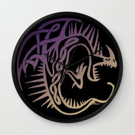 Deadly Nadder Purple and Gold Wall Clock