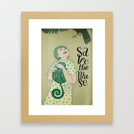 Save the muse Framed Art Print