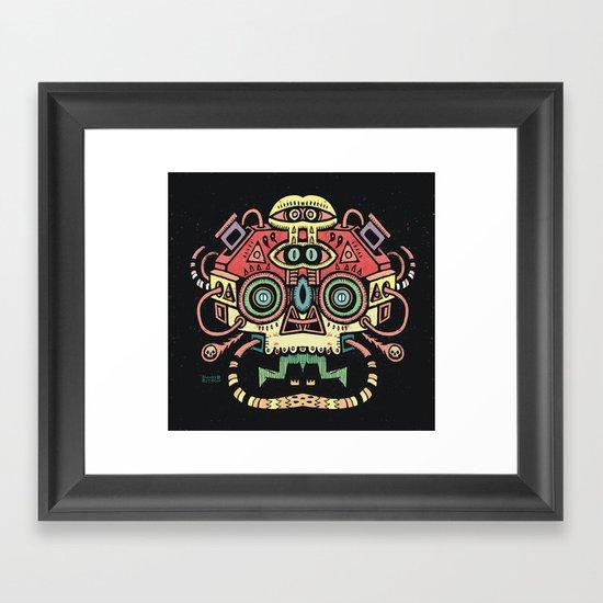 Lanceur de rêves - Alien tribe Framed Art Print
