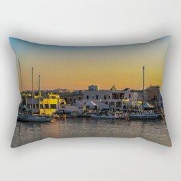 Villanova port harbour Marina Ostuni on the Adriatic sea Rectangular Pillow