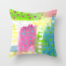 Polk-A-Dotted Background Throw Pillow