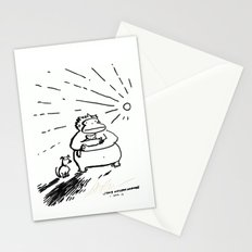 Ape, Puppy, and Kitten Bravely Face the New Day Stationery Cards
