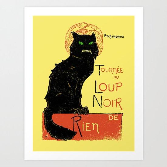 Loup Noir Art Print