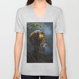 Death head Unisex V-Neck