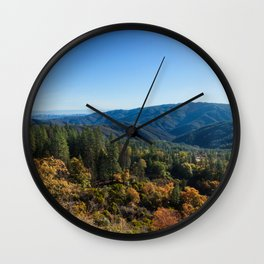 Fall Sunrise Photography Print Wall Clock