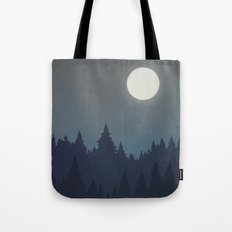 Tree Line - Grey Tote Bag