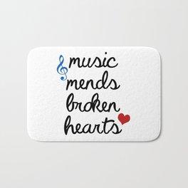 Music Mends Broken Hearts Bath Mat