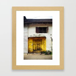 Fort Cochin Door, Fort Cochin, Kerala, India Framed Art Print