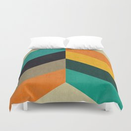 Minimalist and colorful chevron Duvet Cover