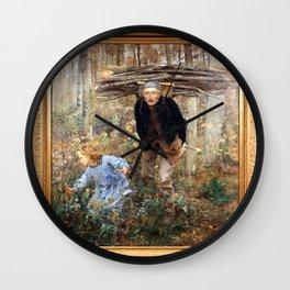 Jules Bastien-Lepage - The Wood Gatherer Wall Clock