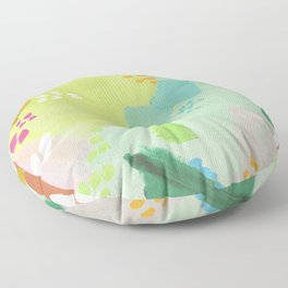 Bright Paints + Gold Floor Pillow