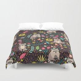Raccoons bright pattern Duvet Cover