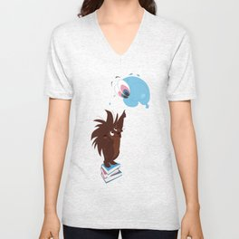 Porcupine and Balloon Unisex V-Neck