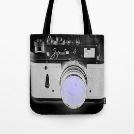 VinTage CaMera Black & White + Lavender Tote Bag