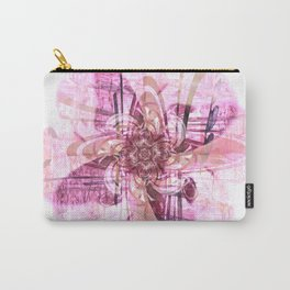 Abstract digital flower in pink Carry-All Pouch