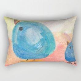 2 Blue Birds Rectangular Pillow