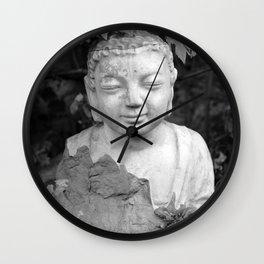 Buddha black and white photo, photographed village in Oberaudorf (Bavaria), 2013 Wall Clock