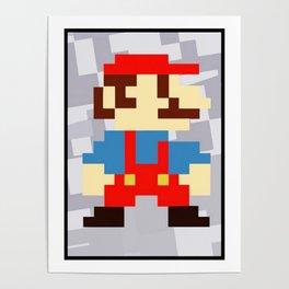 1up soda mario bros and gaming Poster