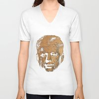jfk V-neck T-shirts featuring Forever Old | JFK by teokon