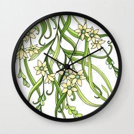 Butterflies In Flowers Wall Clock